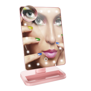 20 LED Lighted Makeup Mirror with Wireless Speaker & Touch Key Hot Sell 2021
