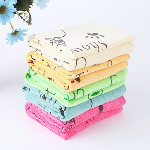 Bulk Buy Premium 36x75cm Screen Pigment Printing Bright Color Microfiber Fabric Yard For Bath Towel Supply From China