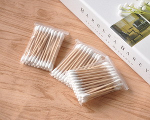 Cheap Price Disposable Ear Cleaning Wooden Stick Cotton Buds