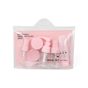 Makeup Tools Hot Sale Portable Travel Sub-bottle 8 Sets Spray /Empty /Cream Empty Bottle Travel Bag