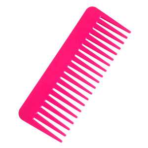 Private Label comb black plastic parting comb wide tooth pink hair comb