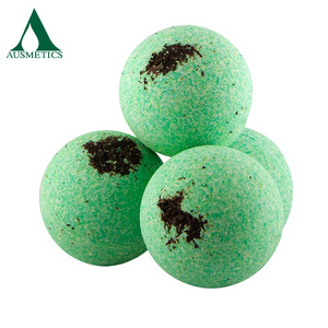Private label Hot sale Ball shape bath bombs gift set in bath fizzies natural bath bomb bubble ball