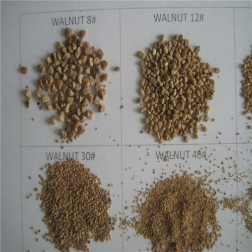 Wholesale High quality walnut shell sand /walnut sand grit 40-100# for blasting and skin care