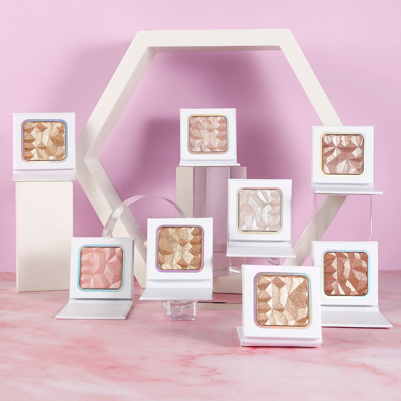 Highlighter Makeup 3D High Pigmented Highlighter Makeup Pressed Powder Pink Palette