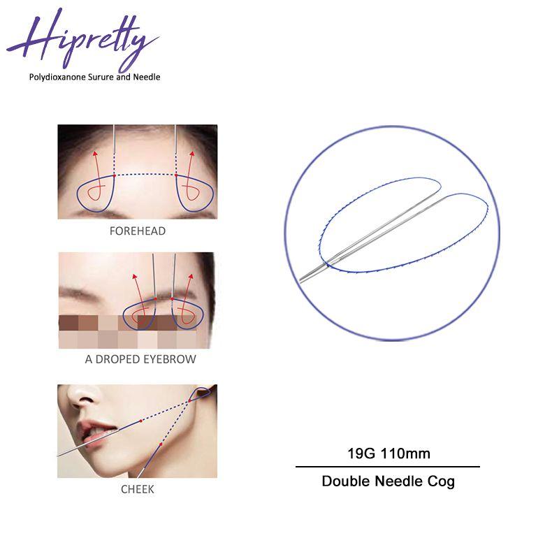 Hipretty Cog 4d L blunt cannula 19g 100mm Beauty korea collagen hilos tensores para el rostro v line face lifting fio pdo thread for body
