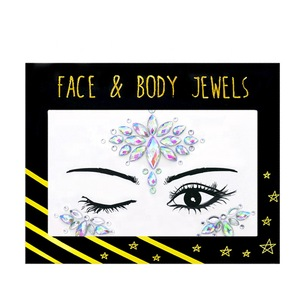 Festival Party Body Glitter Stickers Face Gems Rhinestone Tattoo Crystal Makeup Face Jewel for Body Art