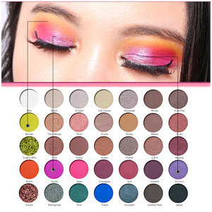 OEM Private Label Cosmetics Vegan Makeup Paper Cardboard Eyeshadow Palette