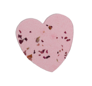 Romantic dried flower aromatic love shape bath salt ball clean exfoliating essential oil bath ball OEM can be customized
