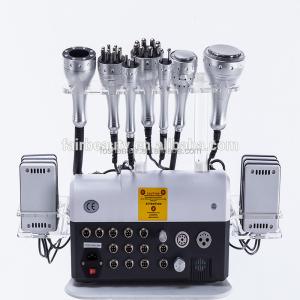 Salon use 8 in 1 warhammer 40K cavitation rf bio suction body shape  body slimming machine laser pads