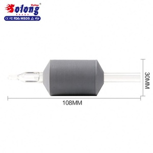 Solong G603 30mm Tattoo Tube with Clear Tip 1.2 Inch Wholesale Disposable Tattoo Tube Grip With Needles
