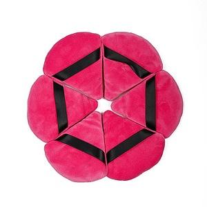 Triangle wedge shape cosmetic powder puff with custom logo