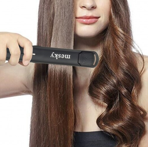MK-128 240℃/470℉ MCH fast heating up ceramic titanium hair straightener