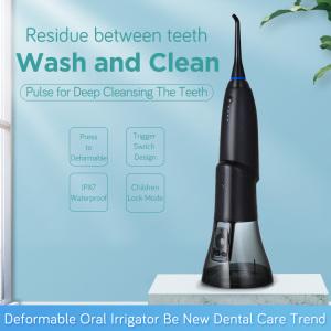 2020 New Deform Potable Electronic Oral Irrigator Dental Water Flosser Teeth Cleaner