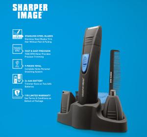 Battery Operated Trimmer Mens Beard Grooming Kit Hair Clipper Set