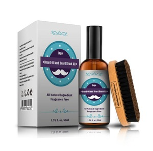 Best Beard Oil Natural and Organic Conditioner Softener - Promotes Beard Growth & Strengthens  Fragrcce Free for Men