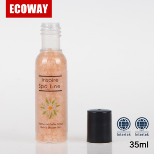 Cheap hotel bath salt for five star hotel shampoo bath gel bottles