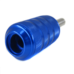 CNC Machine turning aluminum6061 T6 knurled  blue anodize Cartridge Grips for tattoo machine