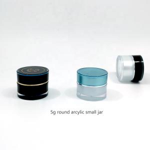 cosmetic packaging 5g empty nail gel pot black cosmetic acrylic jar sample facial cream jar