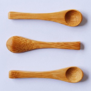 Custom Promotion Eco-Friendly Round Bamboo Wood Cream Cosmetic Spoons