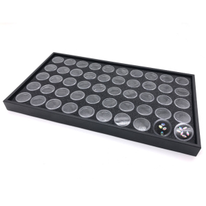 High Quality 50 Grids Empty Nail Transparent Art Tips ABS Plastic Storage Nail Tips Box