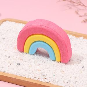 Natural valentine fizzy bubble rainbow cloud bath bomb