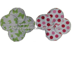 New Pattern Reusable Nursing Breast Pads Water Proof 3 Layers Bamboo Milk Pads