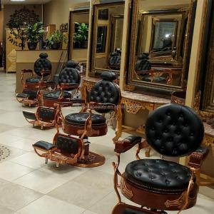 Salon equipment hair salon furniture barbershop supplies luxury gold barber chair