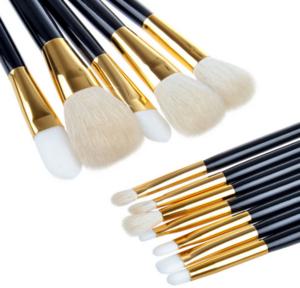 Wholesale 12 pcs Makeup Brush Sets Pro Cosmetics Brushes Eyebrow Eye Brow Powder Lipsticks Shadows Make Up Tool Kit