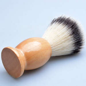Wholesale professional barber shop shaving tools synthetic hair shaving brush with wood handle
