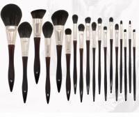 Customize Premium Animal Hair Makeup Brushes 18pcs Cosmetics Brush Set Foundation Powder Blush Eyeshadow Brush