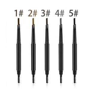 Eyebrow makeup 5 color permanent dual heads private label eyebrow pencil