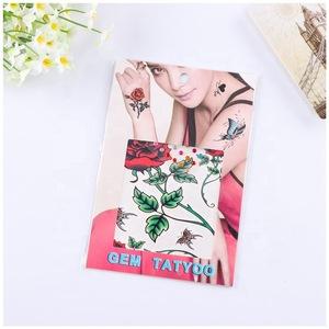 Flower design temporary hand face tattoo sticker