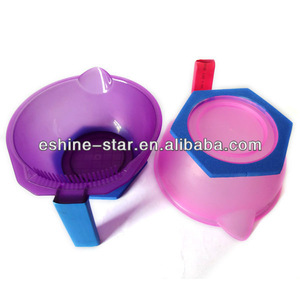 Hair salon equipment plastic hair tinting dyeing bowl