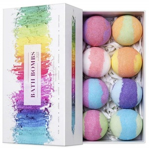 OEM Private Label Colorant Press Bubble Fizz Balls All Natural Fragrance Organic Vegan Package Bath Bombs Set