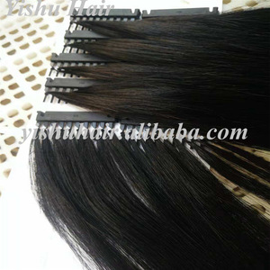 2018 new products high quality double drawn cuticle aligned remy hair 6D feather line in human hair extensions