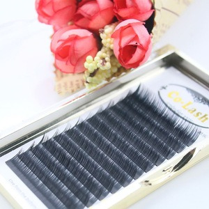 Attractive Korean Silk Flat Fiber 3d Eyelash Extension
