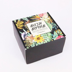 colorful mold exquisite packing box  Vegan Moisturizing Organic Private Label Handmade DIY Bath Bombs