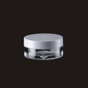 Customizable 3g 5g 10g PP small packaging round square luxury transparent clear plastic cosmetic jar