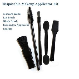 Disposable Applicator Kit Brush Set Includes Mascara Wand, Lip Brush, Eyeshadow Applicator, Spatula, Sponge