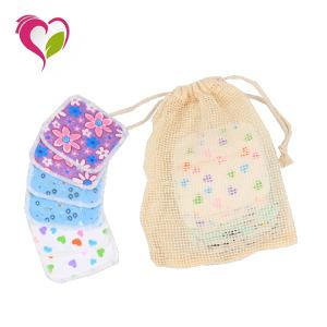 New Arrivals Bamboo Cotton Face Pads With Laundry Bag Makeup Remover Pad Reusable