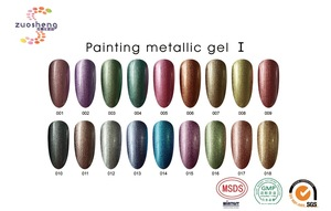 OEM/ODM fashion painting metallic gel odorless gel nail polish