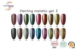 OEM/ODM fashion painting metallic gel odorless gel nail polish