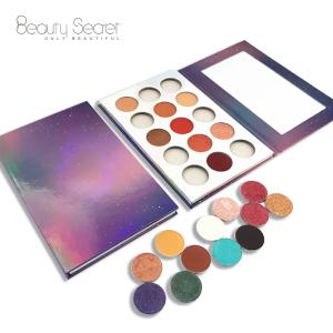 wholesale eyeshadow pigment palette packaging custom private label eyeshadow palette duochrome eyeshadow