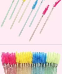 Mascara  brush/ Sain Hot Sell Wholesale One-Off Glitter Eyelash Brush Eye Lashes Disposable Mascara Wand Eyelash Extension Brush