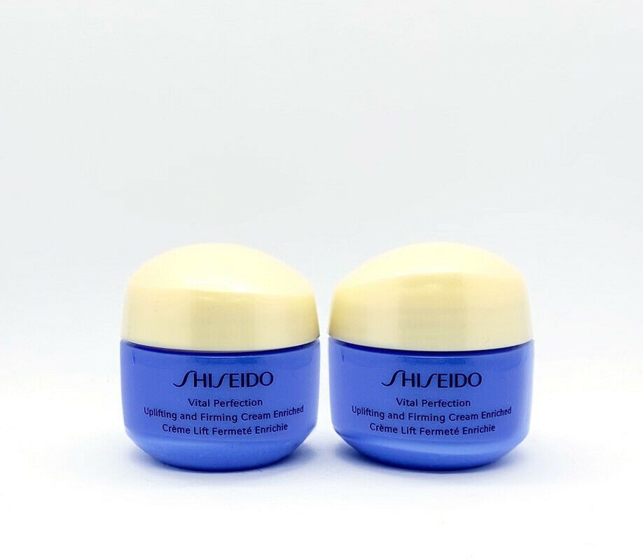 2 x Shiseido Vital Perfection Uplifting and Firming Cream ENRICHED 15ml