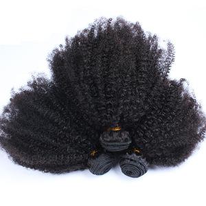 100% natural  buy bulk of virgin mongolian afro kinky curly human hair