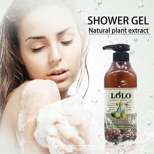 2019 OEM fragrance refreshing wholesale moisturizing rose tea tree shea butter shower gel