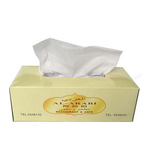 Custom logo or other things printing on facial tissue paper
