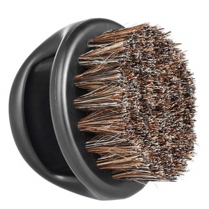 Fashion high quality cleaning black boar bristle wood shaving beard brush for men