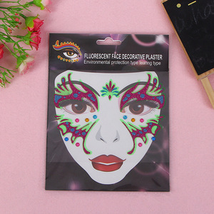 Halloween Party decoration Waterproof Multipurpose Face mask tattoo